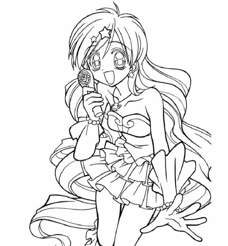Mermaid Melody Coloring Pages Printable