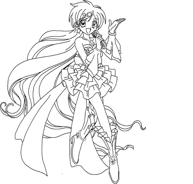 Mermaid Melody Hanon Coloring Pages