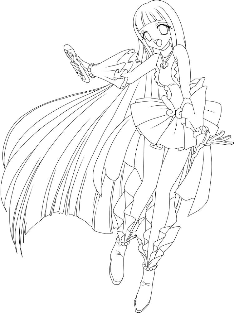 Mermaid Melody Sara Coloring Pages
