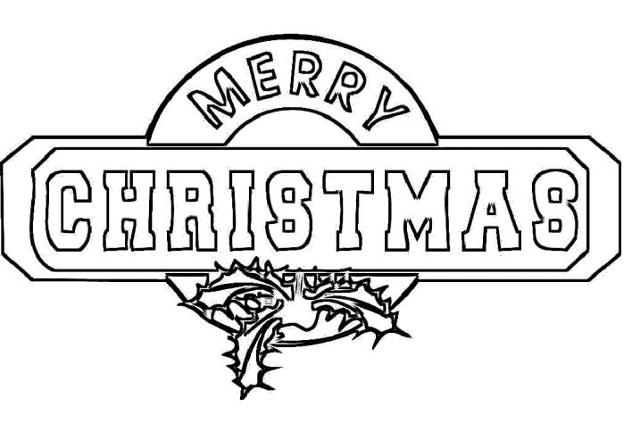 Merry Christmas Coloring Page For Kids