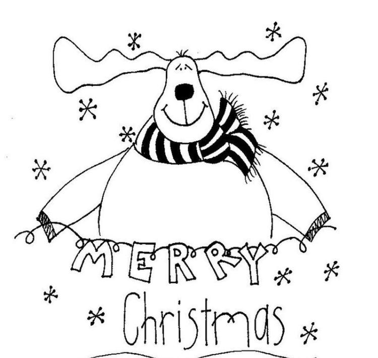 Merry Christmas Coloring Pages Reindeer