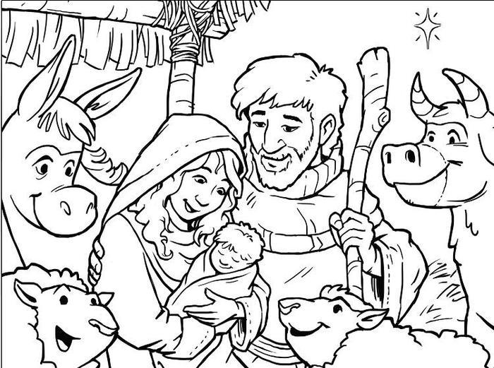 Merry Christmas Jesus Coloring Pages