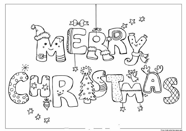 Merry Christmas Print Out Coloring Pages
