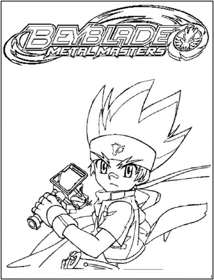 Metal Masters Beyblade Coloring Pages