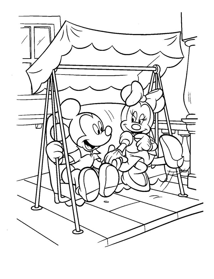 Mickey And Minnie Coloring Pages Printable