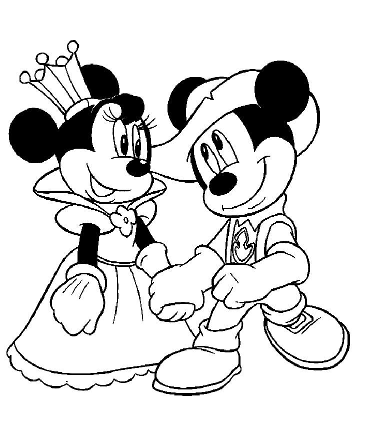 Mickey And Minnie Mouse Coloring Pages Free