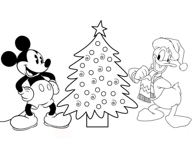 Mickey Mouse And Donald Duck Make A Christmas