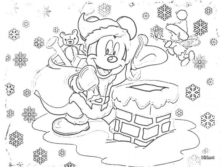 Mickey Mouse Christmas Coloring Pages 1