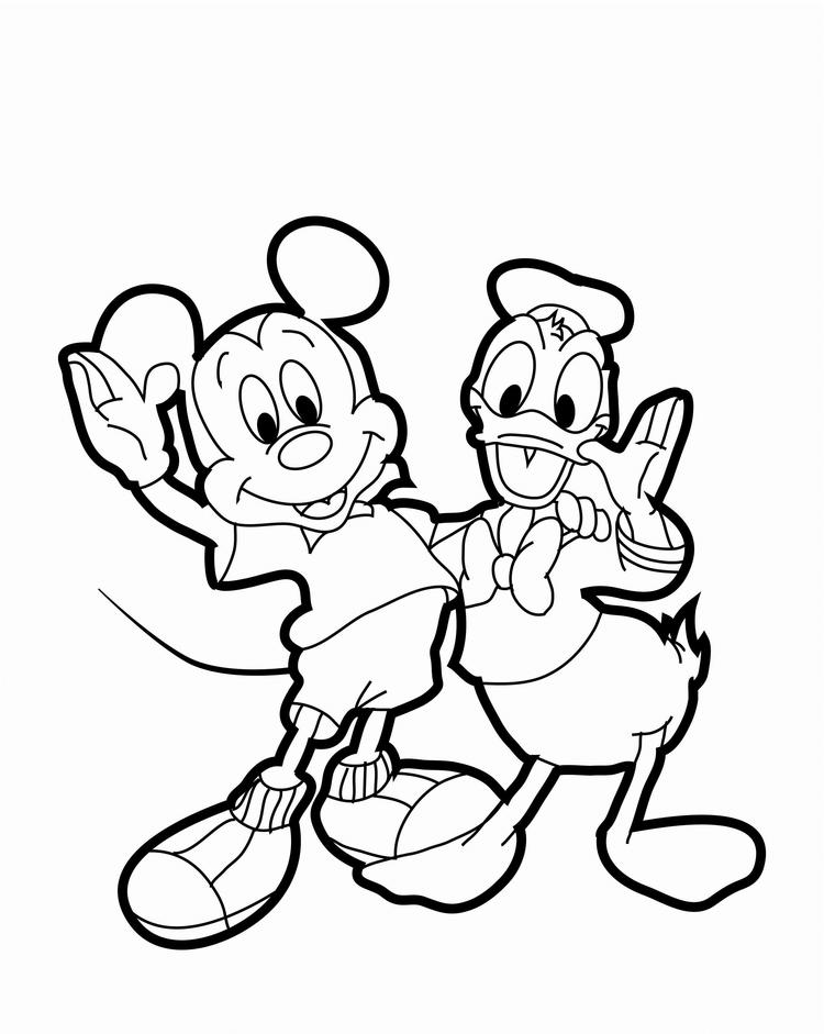 Mickey Mouse Coloring Pages Donald Duck