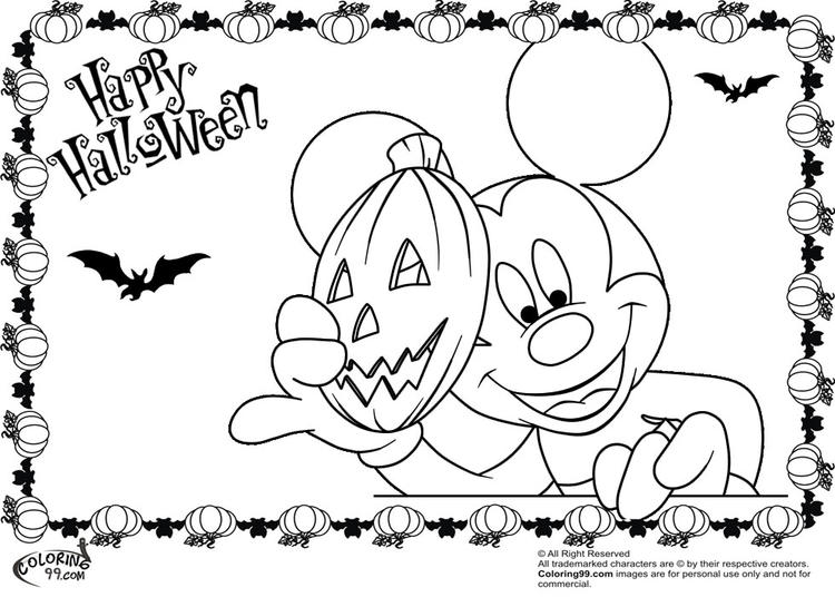 Mickey Mouse Face Coloring Pages 1