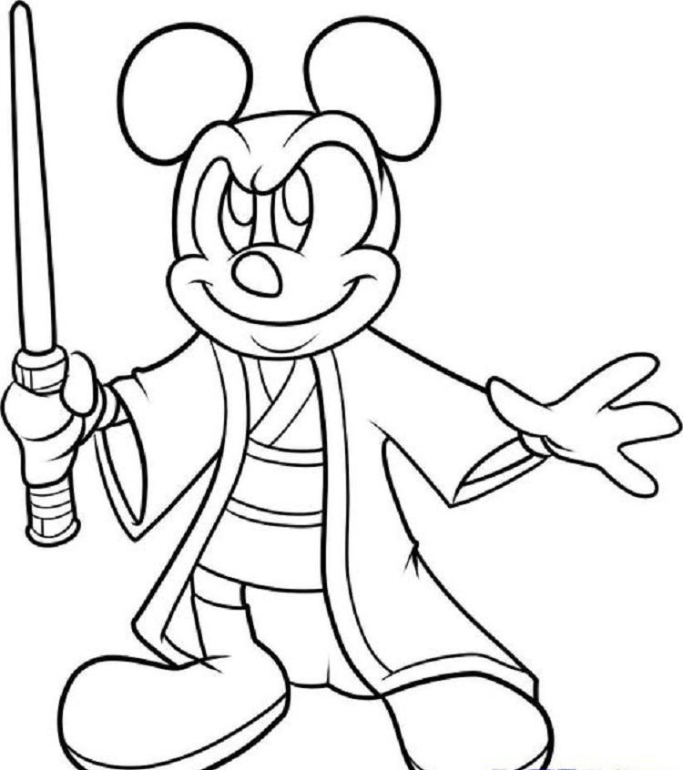 Mickey Mouse Star Wars Coloring Pages
