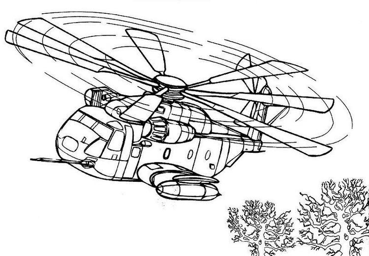 Military Helicopter Coloring Pages Printable