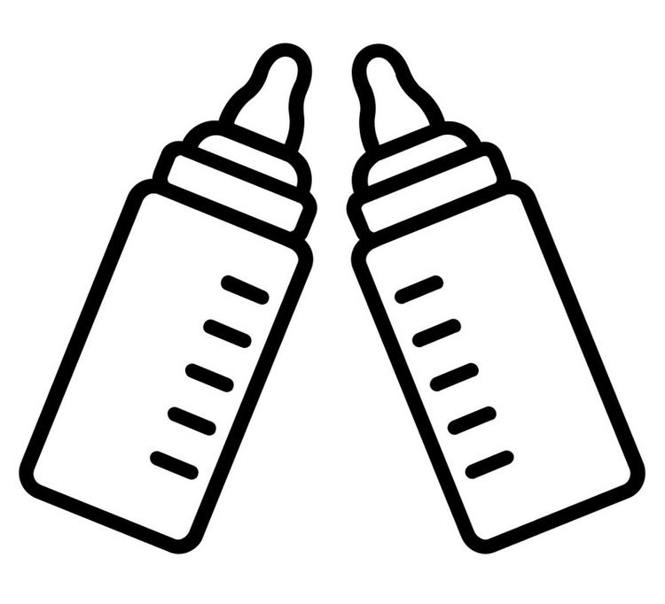 Milk Baby Bottles Coloring Page