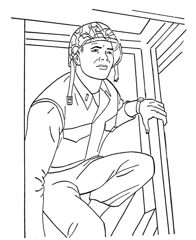 Millitary Coloring Pages
