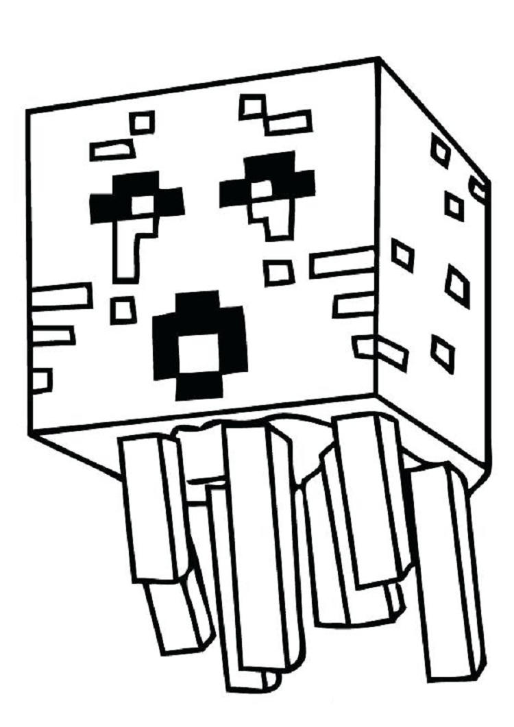 Minecraft Birthday Coloring Pages