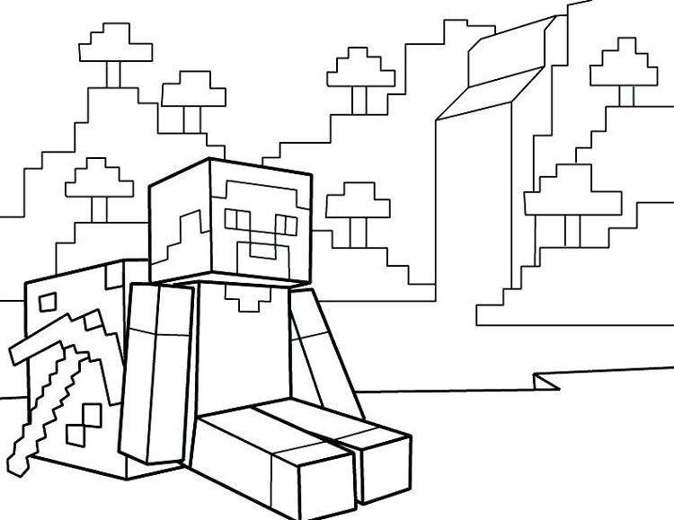 Minecraft Coloring Pages Armor
