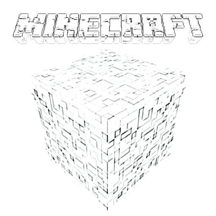 Minecraft Coloring Pages Blocks