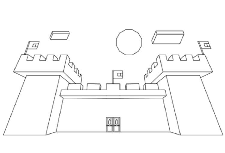 Minecraft Coloring Pages Castle