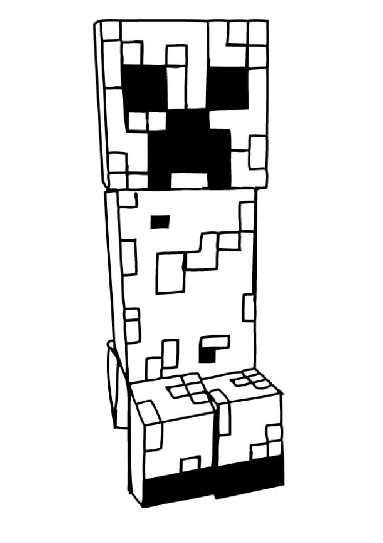 Minecraft Coloring Pages Creeper