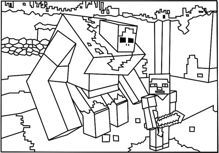 Minecraft Coloring Pages For Boys
