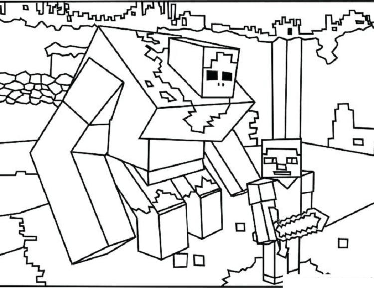 Minecraft Coloring Pages Mutant Zombie