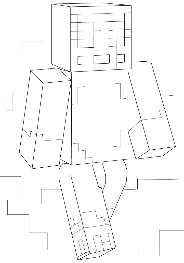 Minecraft Coloring Pages Of Stampylongnose
