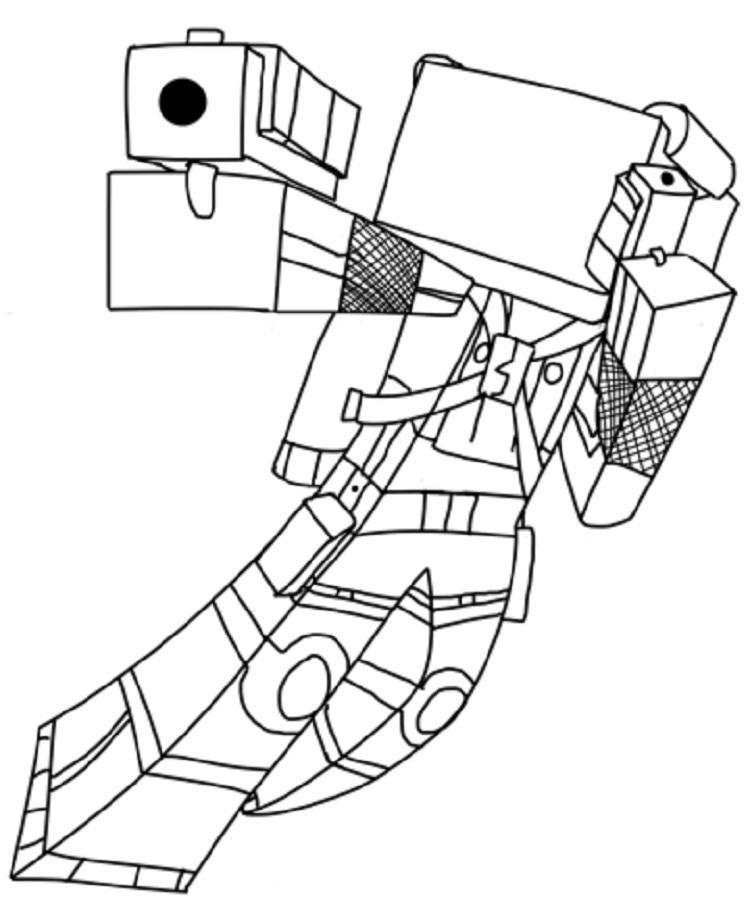 Minecraft Coloring Pages Popularmmos