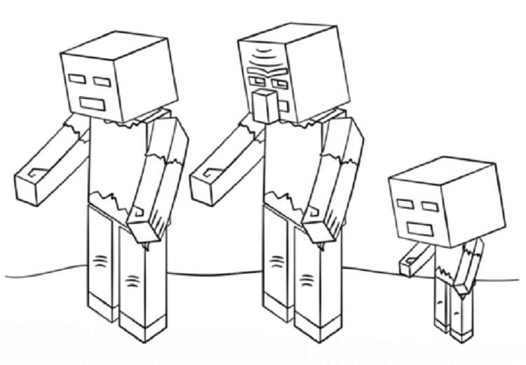 Minecraft Coloring Pages Zombie