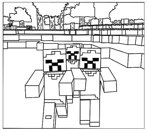 Minecraft Lego Coloring Page To Improve Coloring Skills