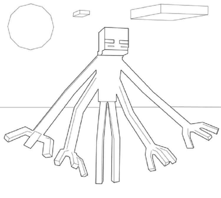 Minecraft Mutant Enderman Coloring Pages