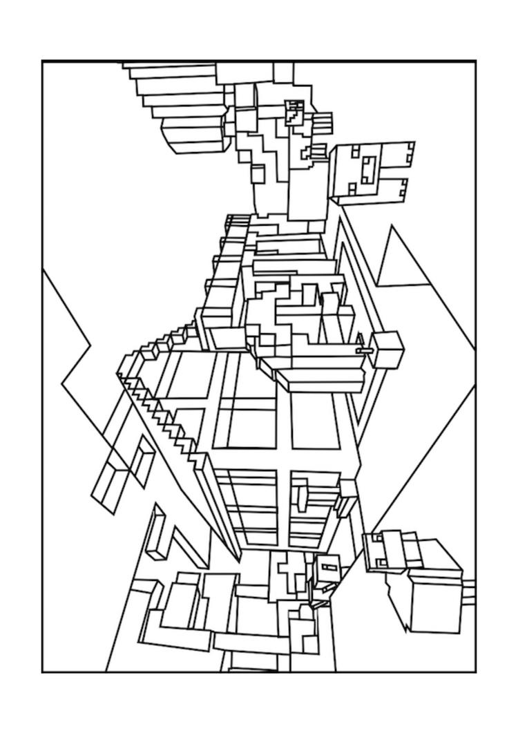 Minecraft World Coloring Pages Free To Print