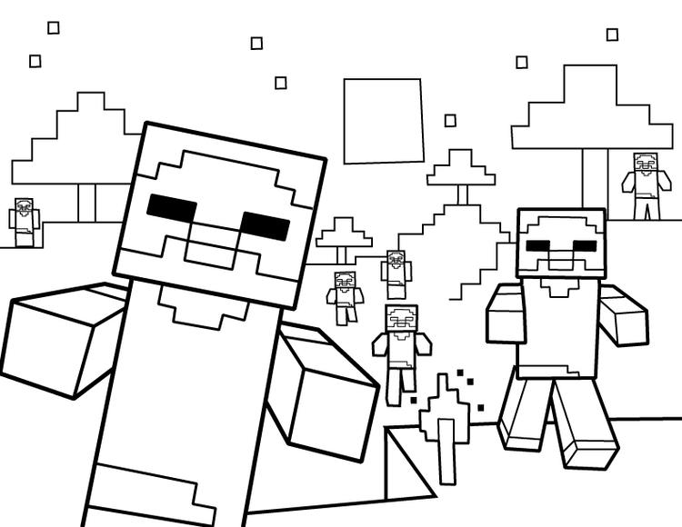 Minecraft Zombie Coloring Pages To Print