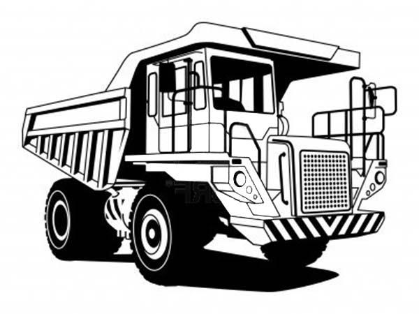 Mining Dump Truck Coloring Pages Free To Print