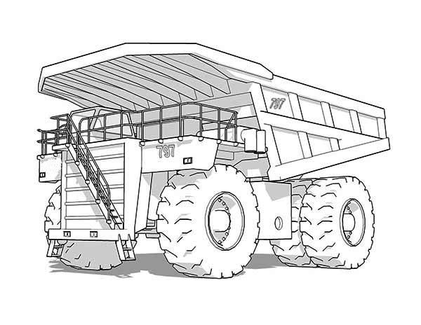 Mining Dump Truck Coloring Pages