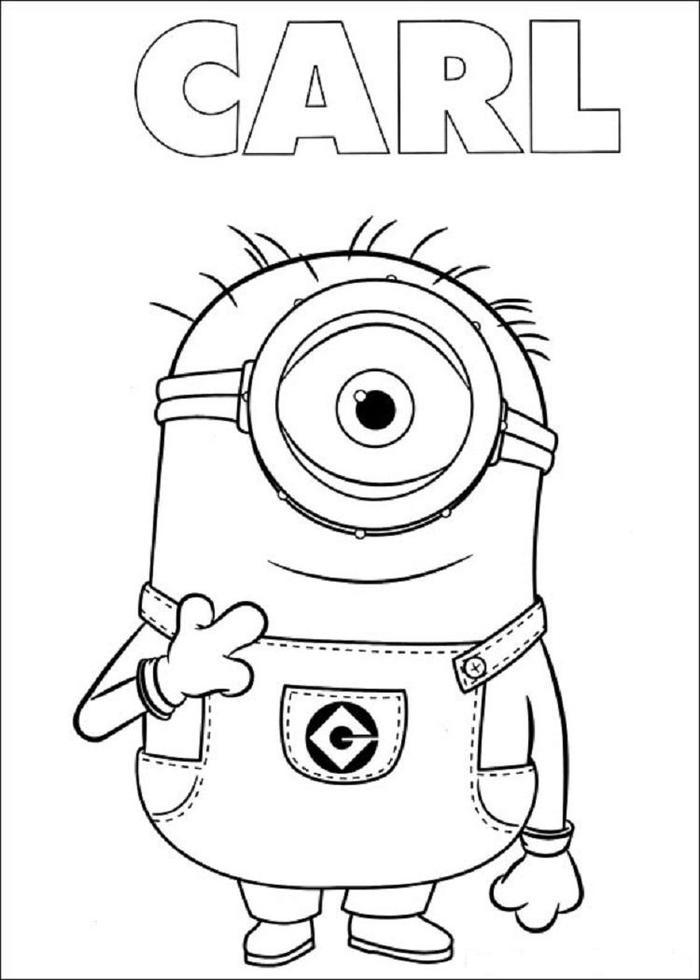 Minion Carl Coloring Pages