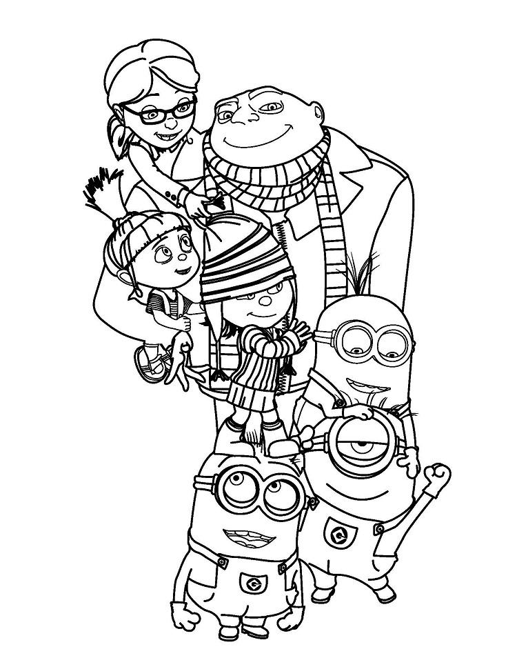 Minion Coloring Pages For Adults