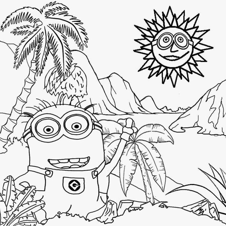 Minion Coloring Pages For Teenagers