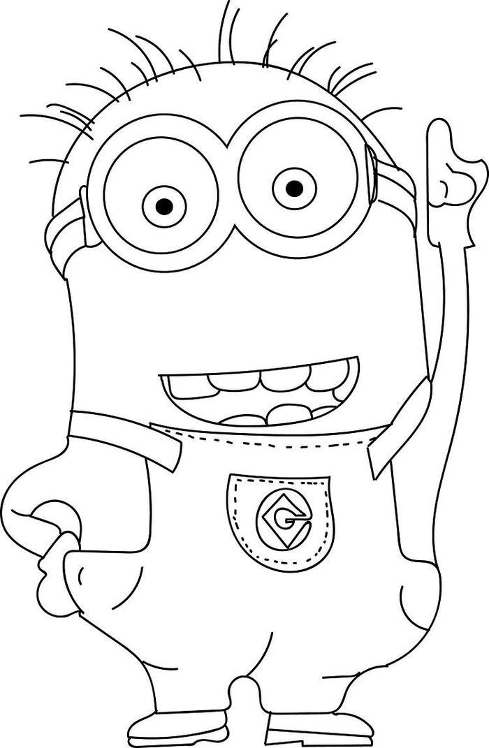 Minion Head Coloring Pages