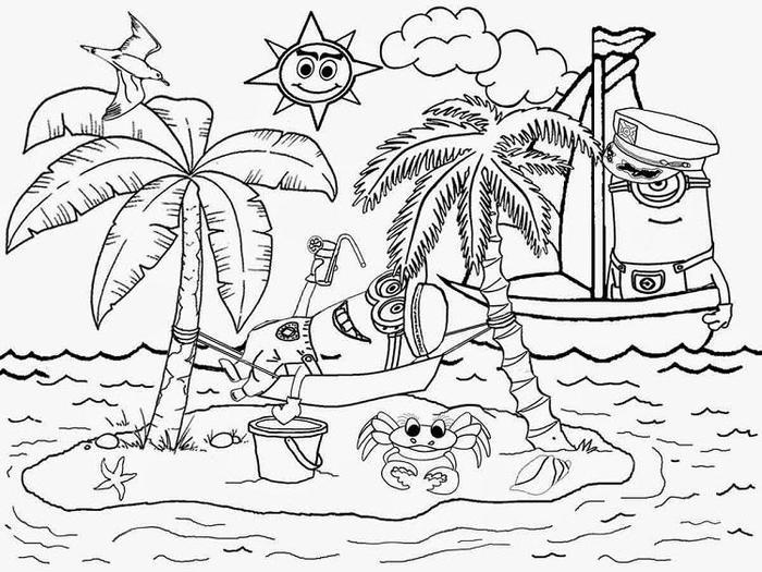 Minion Holiday Coloring Pages