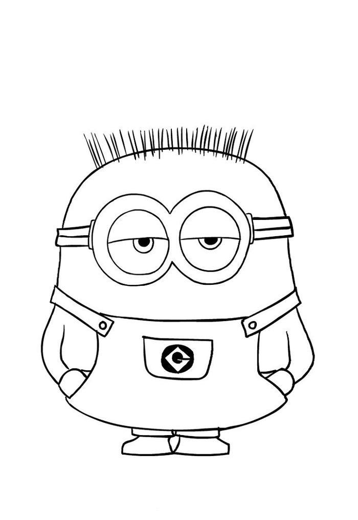 Minion Jerry Coloring Pages