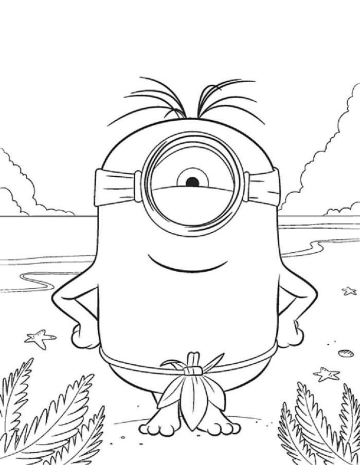 Minion Movie Coloring Pages