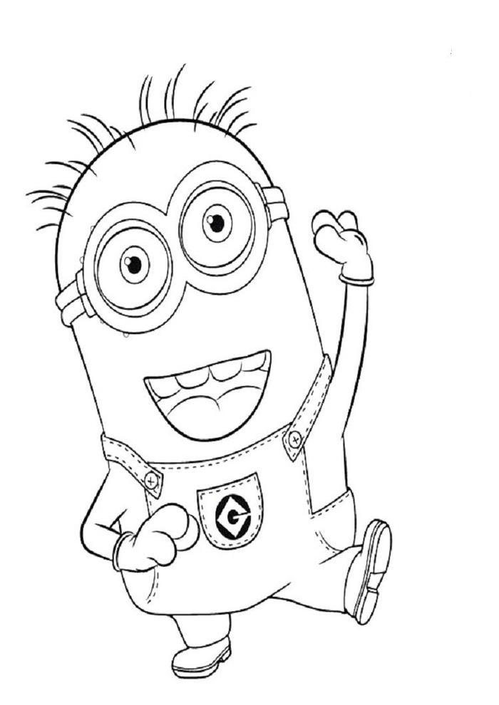 Minion Phill Coloring Pages