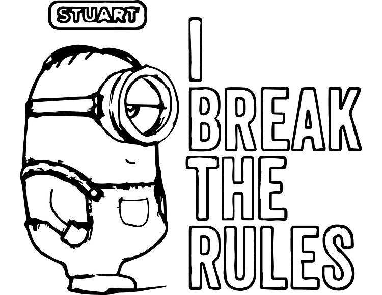 Minion Quote Coloring Pages