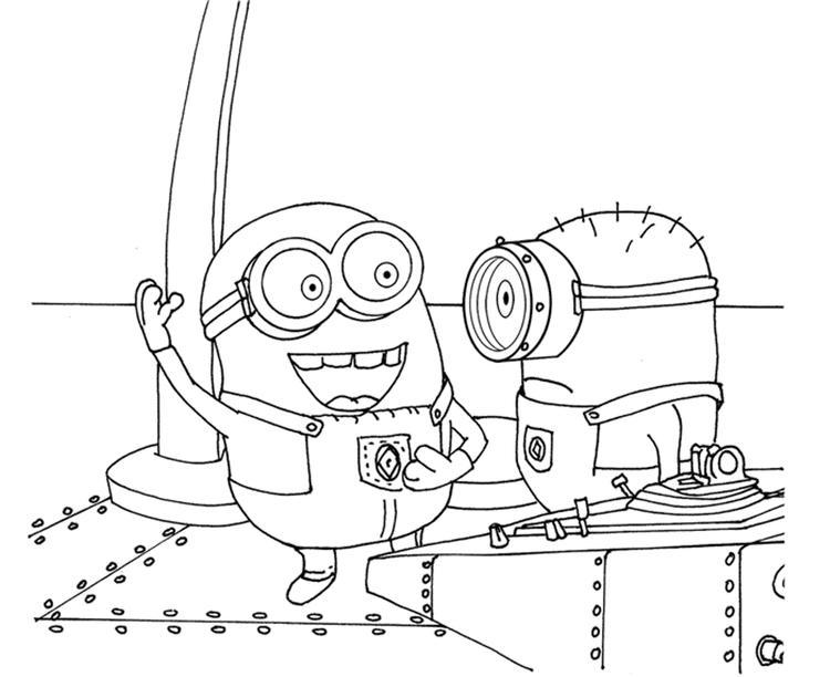 Minions Despicable Me Coloring Pages Printable
