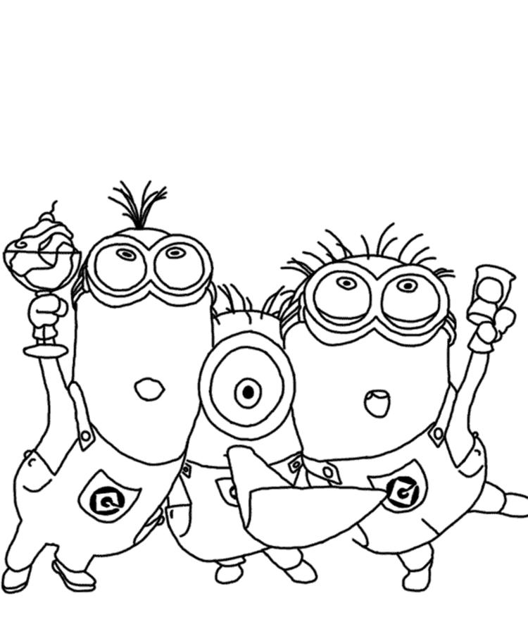 Minions Despicable Me Coloring Pages