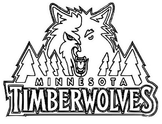 Minnesota Timberwolves Coloring Page 1