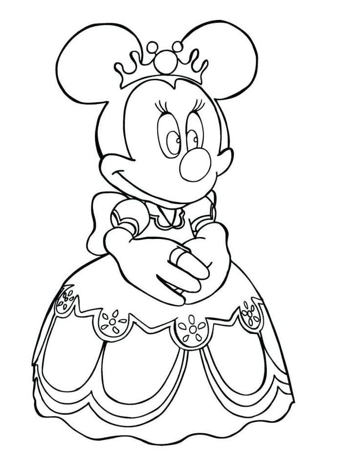 Minnie Mouse Bride Coloring Pages