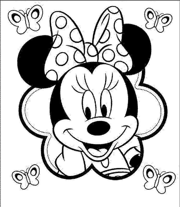 Minnie Mouse Coloring Pages For Girls
