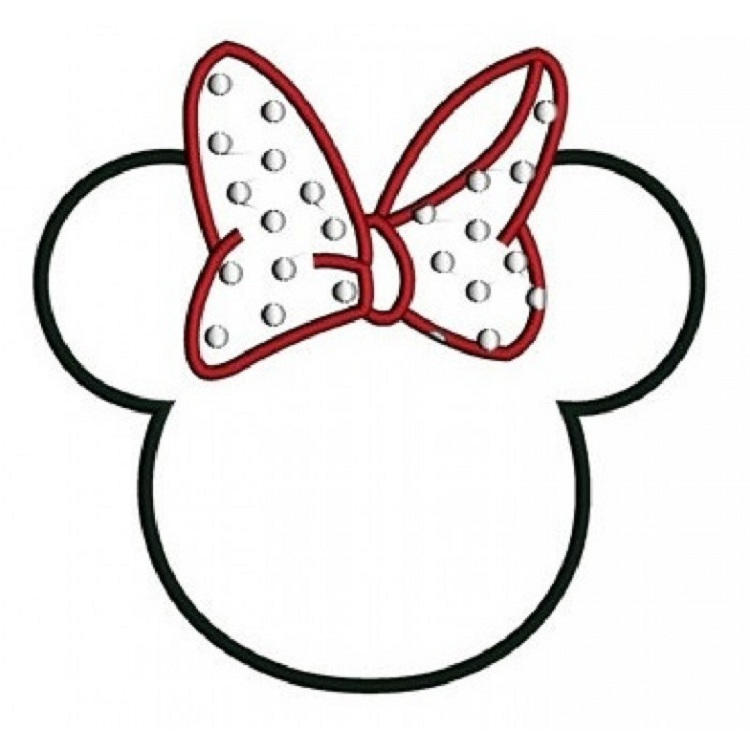 Minnie Mouse Ears Coloring Pages