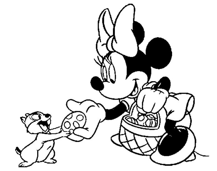 Minnie Mouse Easter Disney Coloring Pages
